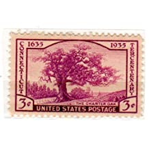 Postage Stamps United States. One Single 3 Cents Violet Charter Oak, Connecticut Tercentenary Issue Stamp Dated 1935, Scott #772. by S.T.A.M.P.S
