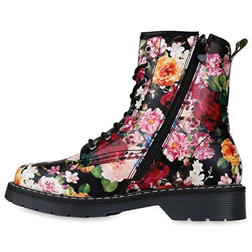 Profilsohle Prints Schwarz Stiefeletten Unisex Herren Worker Boots Flandell Damen Stiefelparadies 7zPqwHxzY