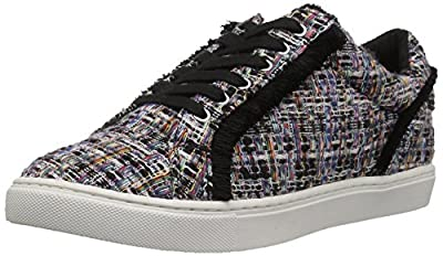 Amazon Brand - The Fix Women's Tinsley Frayed Silk Lace-Up Sneaker