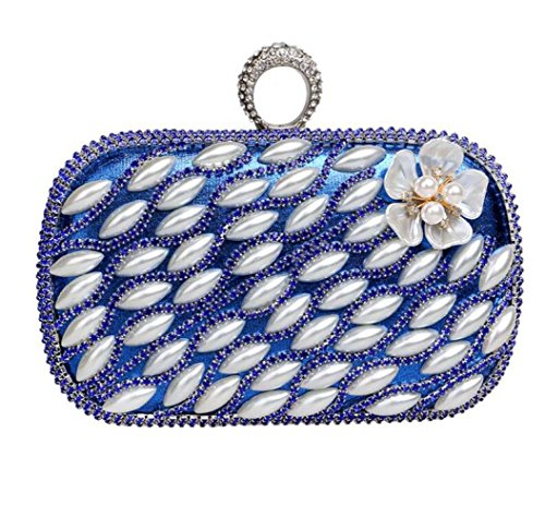 Party Perle Femmes De Clubs Cadeau À Blue Main Pour Antique Mariage Bandoulière Glitter Soirée Nuptiale Prom Pochette Fleur Sac Dames 7Ypqx67