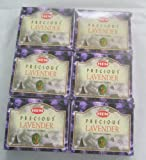 Hem Precious Lavender Incense Cones, 6 Packs of 10 Cones = 60 Cones