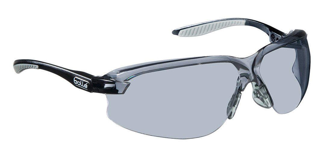 48b63f5da56 Amazon.com  Bollé Safety 253-AX-40033 Axis Safety Eyewear with Black Gray  Polycarbonate + TPR Rimless Frame and Smoke Lens  Home Improvement