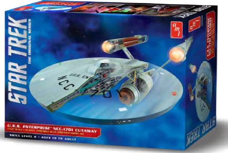 #891 AMT/ Star Trek,The Original Series, USS Enterprise NCC-1791 Cutaway 1/537 Scale Plastic Model Kit, Needs (891 Series)