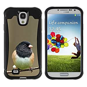 LASTONE PHONE CASE / Suave Silicona Caso Carcasa de Caucho Funda para Samsung Galaxy S4 I9500 / bird black branch spring winter nature