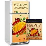 Appliance Art 11163 Appliance Art Holidays Pumpkin Combo Refrigerator- Dishwasher Cover