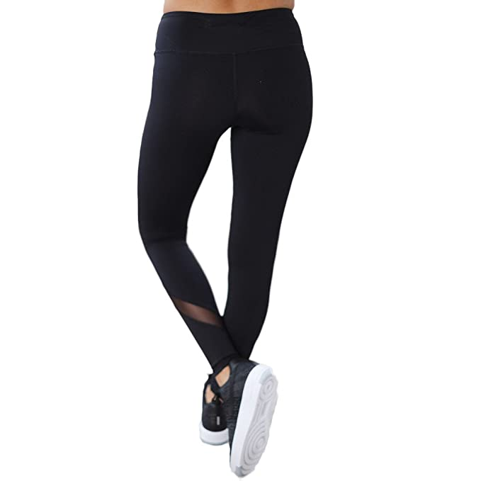 SKY Mujeres Pantalones de Yoga de Secado rápido Perspectiva Costura ...