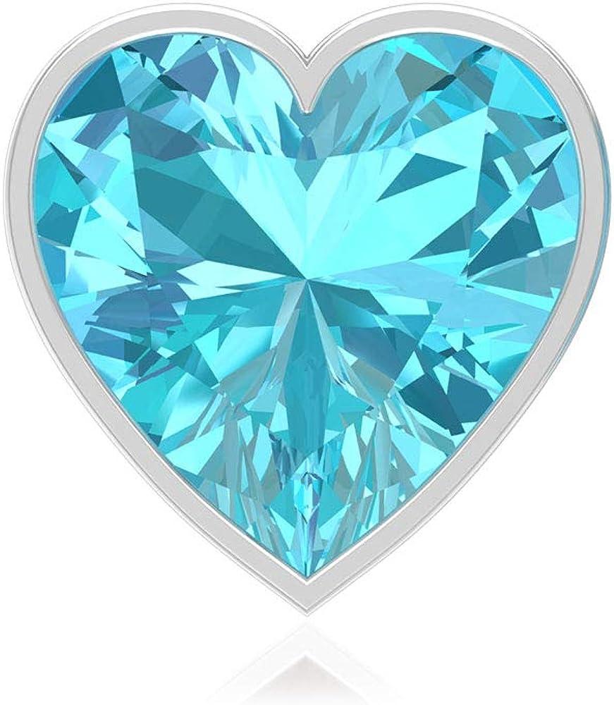 Pendientes de solitario suizo con topacio azul de 3 quilates, declaración de boda, pendientes de novia, certificado SGL, forma de corazón, pendientes de oro vintage, tornillo hacia atrás