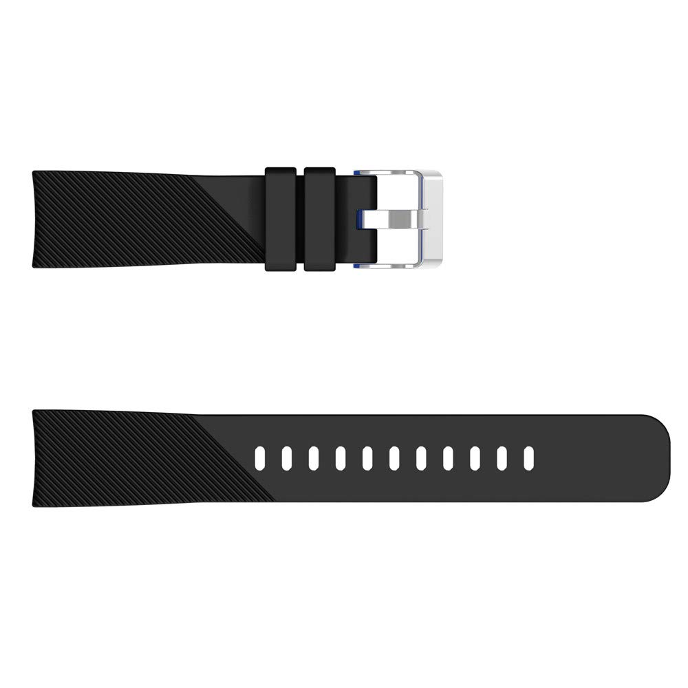HighlifeS Soft Silicone Watch Band Replacement Band Strap for Samsung Galaxy Watch 42mm (Black)