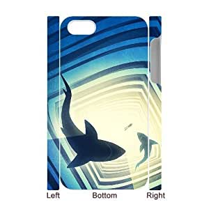 3D Bumper Plastic Case Of Deep Sea Shark customized case For Iphone 4/4s