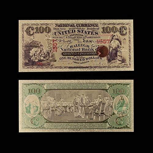 ZYZRYP 1ドル1975年24Kゴールド紙幣コレクター999.9金箔世界紙幣米国ノーマルマネーコレクション 使いやすい (色 : Style 4)