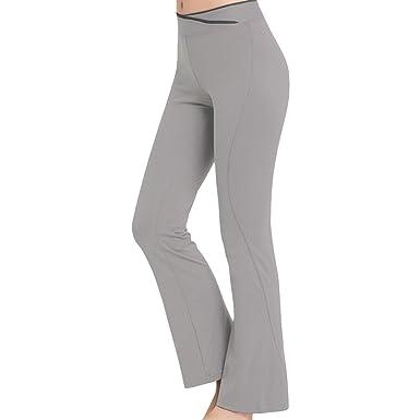 Sidiou Group Femme Pantalon de Yoga Pantalons de Sport Jogging Elastique  Extensible Pantalon de Fitness Pantalon a875a93db8c