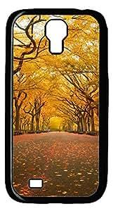 Brian114 Samsung Galaxy S4 Case, S4 Case - Black Hard PC Cases for Samsung Galaxy S4 I9500 Beautiful Street View Ultra Fit for Samsung Galaxy S4 I9500