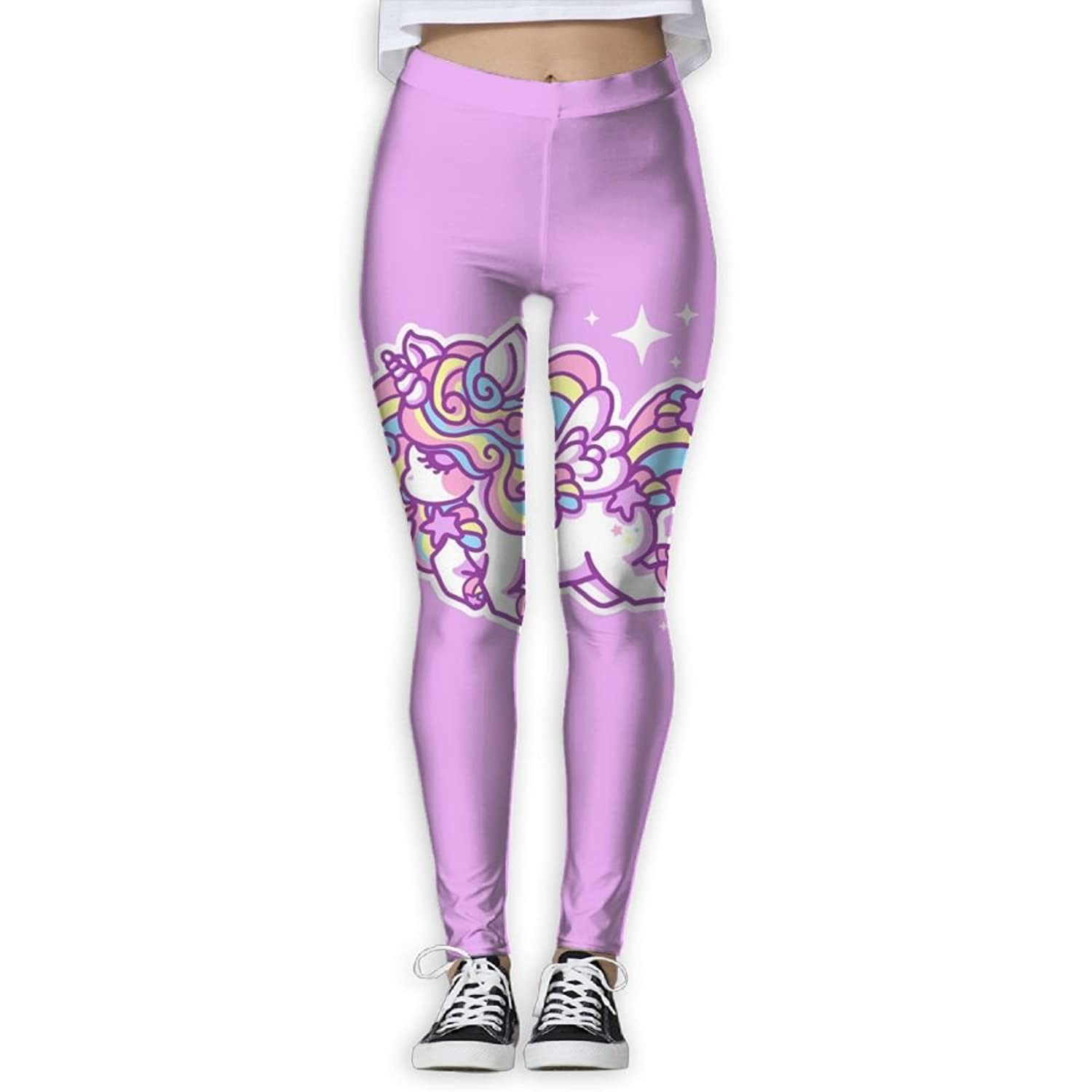4a61dbec75bdb BabylLave Cute Pink Unicorn Women Printed Full-Length Yoga Workout Leggings  for Running Outdoor Sports
