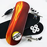 P-Rep Fired Up 30mm Graphic Complete Wooden Fingerboard w CNC Lathed Bearing Wheels