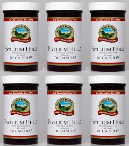 Naturessunshine Psyllium Hulls Digestive System Support 465 mg 100 Capsules (Pack of ()