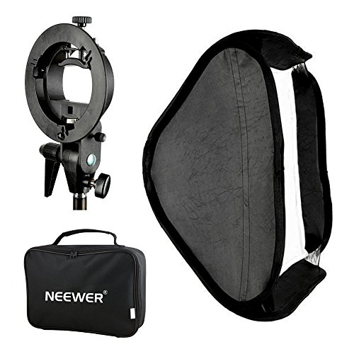 NEEWER SFU-6060 S-TYPE スピードライトブラケット+60x60CM SOFTBOX+BAG