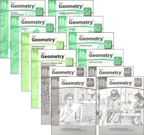 Key to Geometry Complete Set, Books 1-8, plus Answers and (8 Note Set)