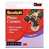 3M Scotch Photo Corners Self Adhesive 250/Box, Clear