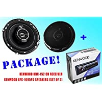 PACKAGE ! Kenwood KDC-152 CD-Receiver + Kenwood KFC-1695PS Car Speakers