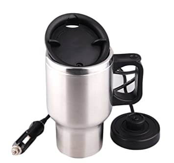 Kangsur Hervidor Eléctrico del Coche Calentador de Agua Copa de EbulliciÓN Botella de Encendedor de Cigarrillos