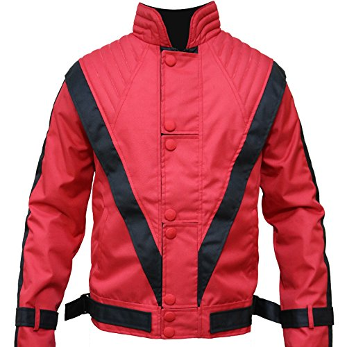 Micheal Jakson Red Thriller Mens Cordura Fabric Jacket, 2XL -