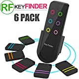 GBD Smart Key Finder Tracker Locator RF Wireless for Kids Pets Wallet Keychain Purse Luggage Dogs Cat Cell Phone Anti-Lost Alarm Remote Control 1 RF Transmitter and 6 Receivers