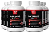 Post workout amino acids - MAXAMINO PLUS 1200 - Increase metabolism women - 6 Bottles 1080 Tablets