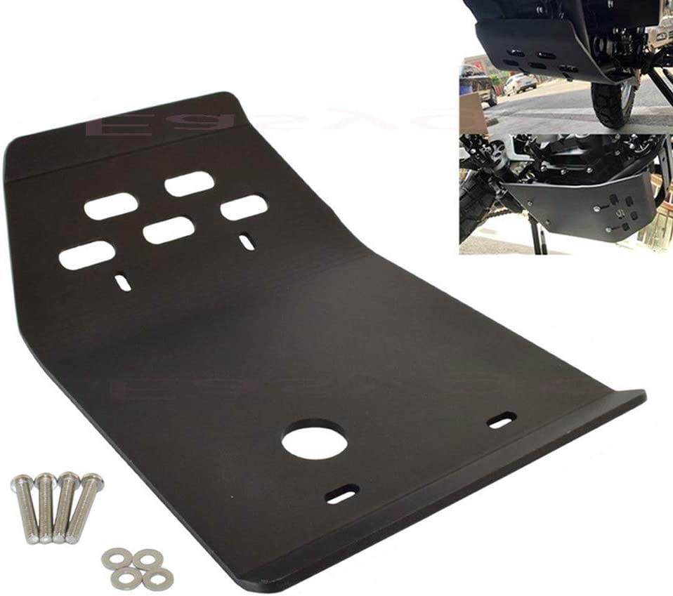 Black Easygo Compatible with XT250 Tricker XG250 XG XT 250 Motorcycle Engine Base Chassis Spoiler Guard Cover Skid Plate Belly Pan Protector