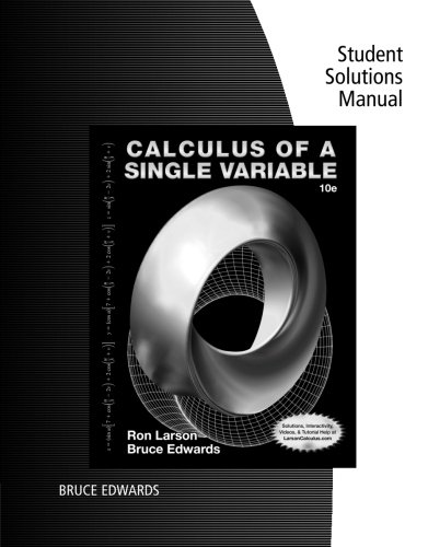 Student Solutions Manual for Larson/Edwards' Calculus of a Single Variable, 10th -  Larson, Ron, Paperback