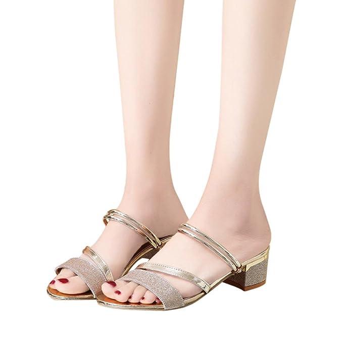 Damen Sommer Sandalen FORH Mode Frauen Schöne Absatzschuhe Schöne Frauen 88b769