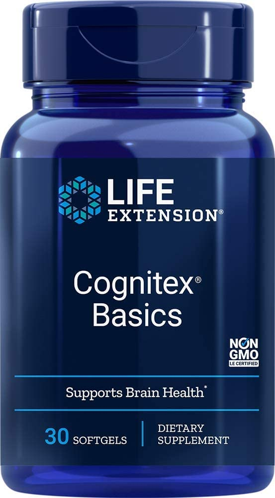 Life Extension Cognitex Basics (Brain Health Formula), 30 Softgels