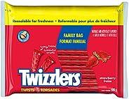 TWIZZLERS Licorice Candy, Strawberry Twists, Family Bag, 680 Gram