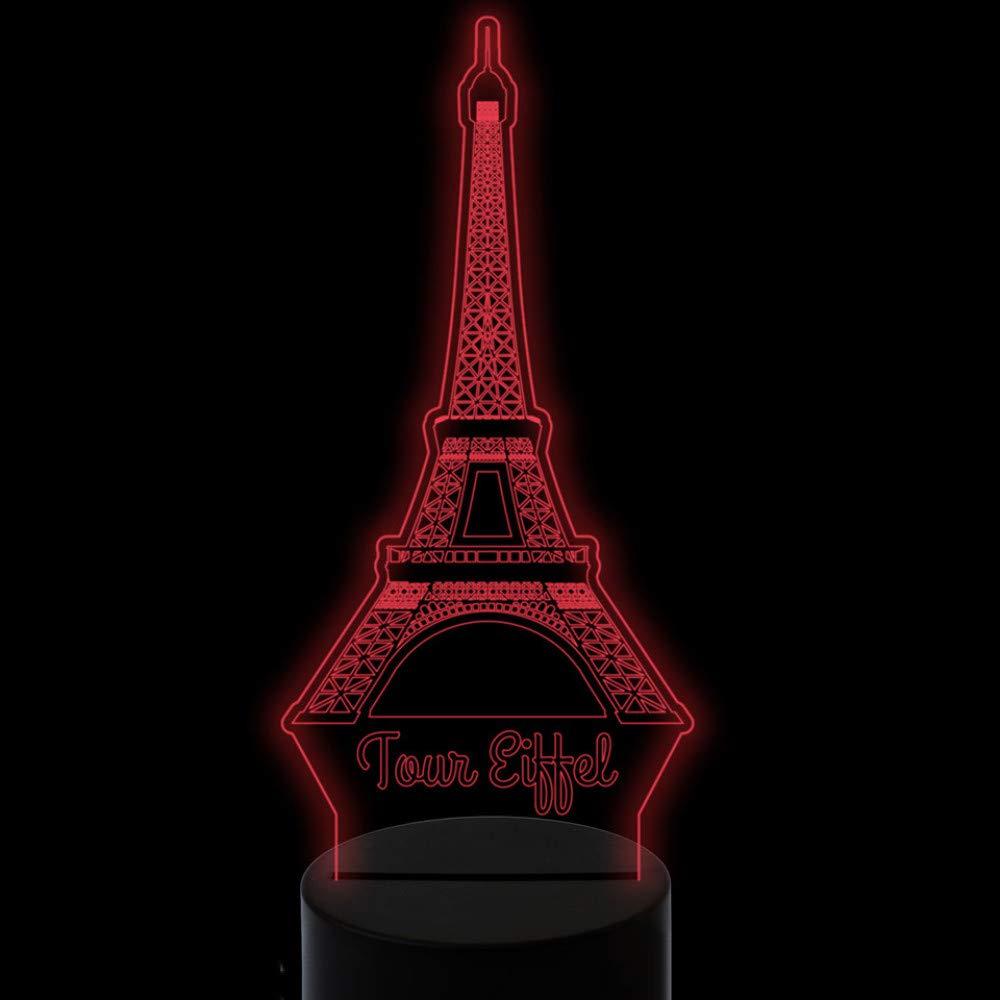 Modelado 3D de la Torre de París Lámpara Led de Escritorio Lámpara ...