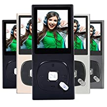 FecPecu Metal MP3 Player, 8GB Music Player Hi-Fi Sound 60 Hours Playback, Portable Audio Player Expandable Up To 64GB (Black)
