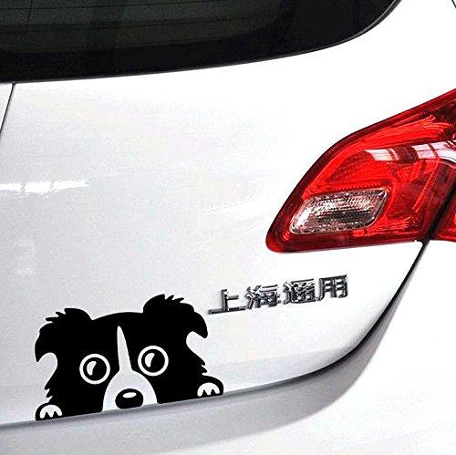 DXYMOO Car Styling Pet Dog Border Collie Car Whole Body Sticker Decals 14x8cm - Dog Collie Sticker