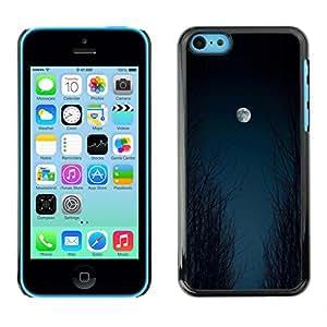 For Apple iPhone 5C Case , Moon Sky Woods Halloween Black - Diseño Patrón Teléfono Caso Cubierta Case Bumper Duro Protección Case Cover Funda