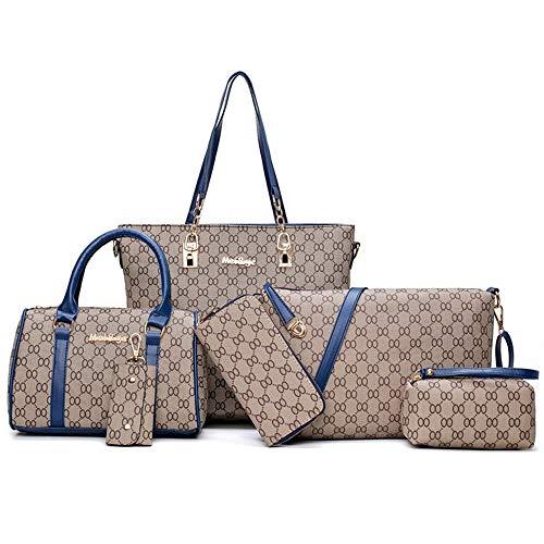 Borsa Set Bag Dadongll donna blu Big a tracolla da Pu 6 Donna 80OPknwX