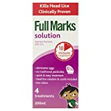 Product review for Full Marks Head Lice Solution with Comb - 4 Treatments, 200 ml