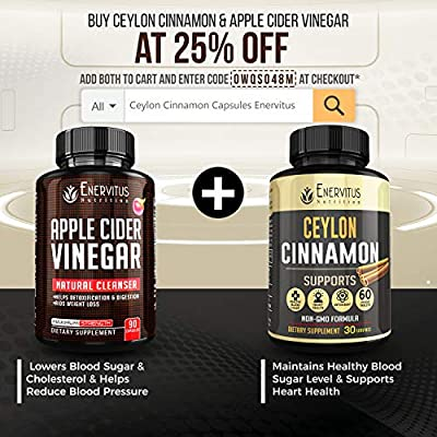 Super Strength Apple Cider Vinegar Capsules - 90 ACV Pills with Spirulina, Kelp, Bromelain, Pectin and B6. Promotes Natural Detoxification and Healthy Digestion Fights Inflammation.