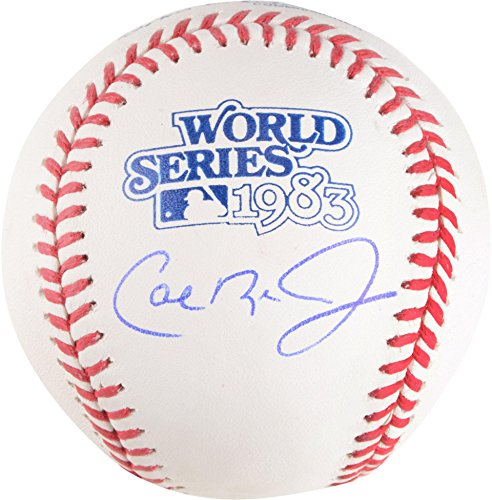 Cal Ripken Jr. Baltimore Orioles Autographed 1983 World Series Logo Baseball - Fanatics Authentic Certified