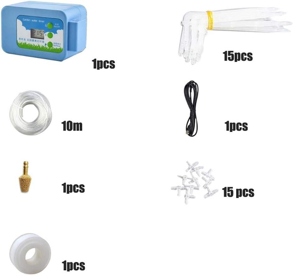 Easy-topbuy USB DIY Kit De Minuterie Darrosage Automatique Pulv/érisateur De Contr/ôleur Dirrigation De Jardin Minuterie deau Num/érique Syst/ème Darrosage Smart Drip Essential Summer