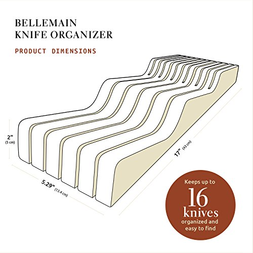 Bellemain 100% Pure Bamboo in Drawer Knife Block, Knife Organizer by Bellemain (Image #6)