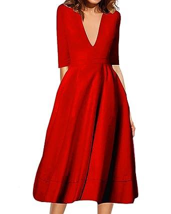 Kleid rot langer arm