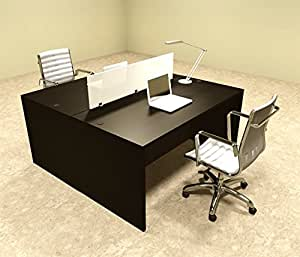 Amazon.com : Two Person Modern Divider Office Workstation