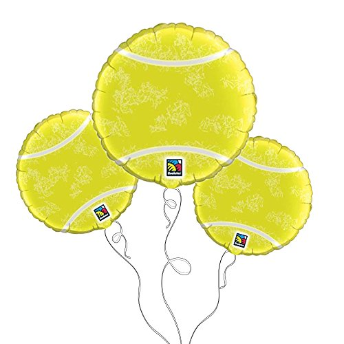 Price comparison product image Qualatex Tennis Ball Microfoil Balloons, 18-Inch (3-Units)