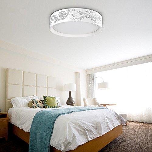 Lampshade Pendant Light Fyios Circular Living Room Lamp, Led Ceiling Lamp, Bedroom Iron Ceiling Lamp, E27,Trichromatic Dimming