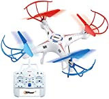 Top Race 4 Channel Quad Copter Drone, Ultra Stable with 1 Key Return & Headless Mode Option (TR-411)