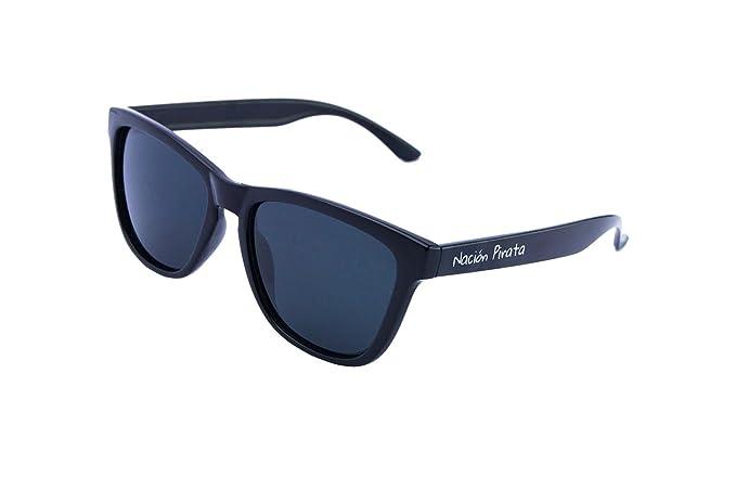 Nación Pirata- Gafas de Sol Policarbonato- Polarizadas, lente negra - Mujer y Hombre