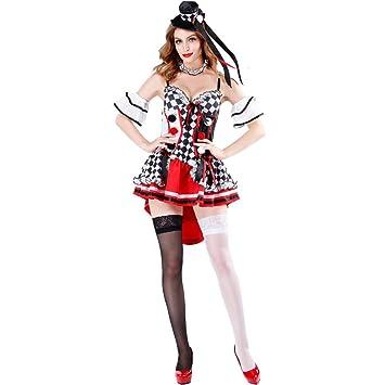 SDGFGW Disfraz de Halloween Halloween Red Heart Queen Poker ...