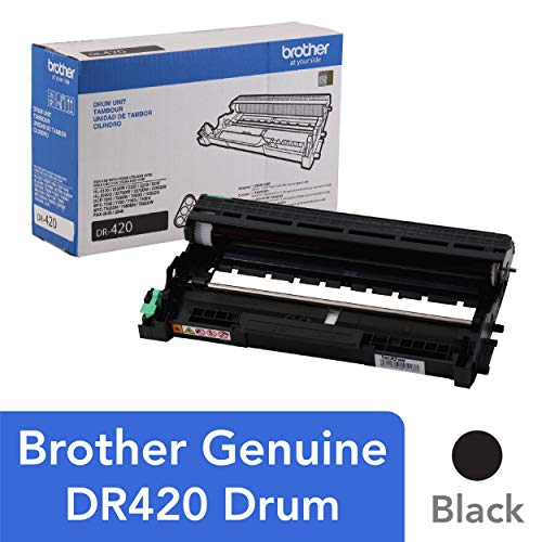 Black Toner Unit - Brother Genuine Drum Unit, DR420, Seamless Integration, Yields Up to 12,000 pages, Black